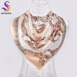 Modny elegancki długi ozdobny szal damski ze sztucznego jedwabiu oryginalne kwiatowe wzory miękka w dotyku chusta