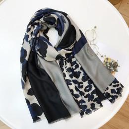 Panie nowa moda Leopard Patchwork wiskoza szalik jesień zima tłumik z pałąkiem na głowę chustki na szyję Sjaal Wrap hidżab... 18
