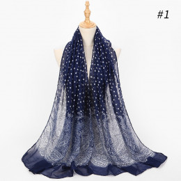 Cienkie paryski przędzy szalik kobiety moda żakardowe Polka Dot szal długie miękkie Boho ręcznik plażowy panie szale  L