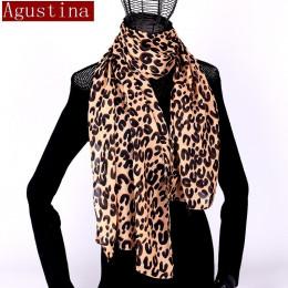 Kobiety szalik szyfonowa leopard print sjaal poncho szaliki zima hidżab szal zwierząt marki luksusowe satin poncho peleryny płas