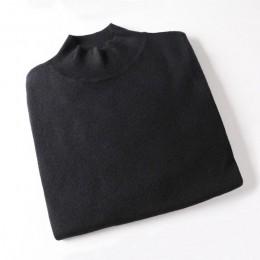 WOTWOY 2018 kaszmirowy z dzianiny damskie swetry z golfem jesień zima podstawowe kobiety swetry koreański styl Slim Fit czarny