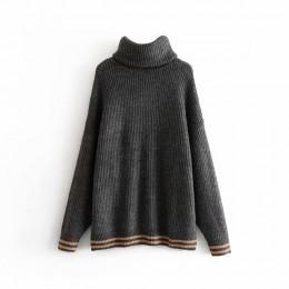 Vadim kobiety z dzianiny z golfem luźny sweter ponadgabarytowych ciepłe grube z długim rękawem swetry damskie casual chic topy H