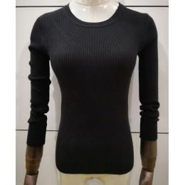 9 kolory 2019 wiosna kobiety panie z długim rękawem o szyi slim fit z dzianiny krótki sweter top femme koreański pull tight kosz
