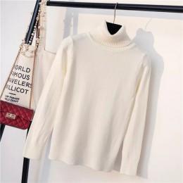 Marwin 2018 jesień zima grube skręcić w dół kołnierz wysokiej elastyczność Casual swetry kobiet gruby sweter z golfem sweter z d