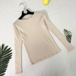 Falbany wokół szyi jesień sweter z dzianiny damskie swetry 2018 zima topy dla kobiet sweter Jumper Pull Femme Hiver Dames Truien