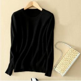 GABERLY miękki kaszmir elastyczna swetry i pulowery dla kobiet jesień zima sweter 5XL O-Neck kobiece wełniane dzianiny marki top