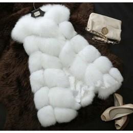 Faux Fur Coat wiosna kobiet 2019 nowa moda na co dzień ciepłe szczupła bez rękawów Faux Fox futerka kamizelka kamizelka kurtka z