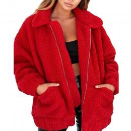 Faroonee elegancki Faux Fur Coat kobiety 2018 jesień zima ciepły miękki zamek futro kurtka kobiet pluszowy płaszcz codzienna odz