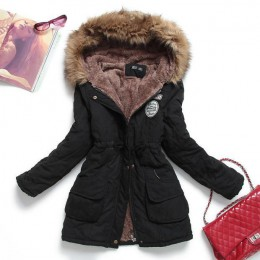 Fitaylor kurtka zimowa kobiety grube ciepłe kurtka z kapturem Mujer bawełna płaszcz z podszewką długi akapit Plus rozmiar 3xl sz