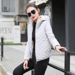 Jesień 2018 nowy podstawowe kurtki parki damskie damskie zimowe oraz aksamitna lamb płaszcze z kapturem bawełniane kurtki zimowe