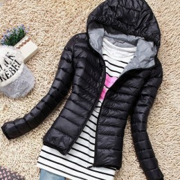 Nowy 2017 moda damska w dół krótki projekt płaszcz zima bawełniana kurtka watowana kobiety Slim stałe na zamek błyskawiczny odzi