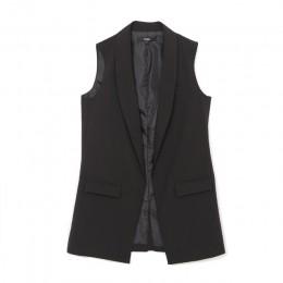 Kobiety moda eleganckie biuro pani kieszeń płaszcz kurtka znosić na co dzień marki kamizelki bez rękawów kamizelka colete femini