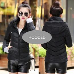 2019 nowe panie mody płaszcz kurtka zimowa kobiety odzieży wierzchniej krótkie watowe kurtka kobiet wyściełane parka płaszcz dam