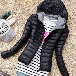 2018 jesień zima kobiety podstawowe kurtki żakiet kobiet szczupła z kapturem marki bawełna płaszcze Casual czarne