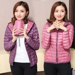 AYUNSUE kobiety kurtki ultralekka kurtka puchowa kobiet 2019 nowa jesień zima płaszcz kurtki dla kobiet dwie boczne kobiet kurtk