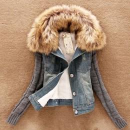 2019 kobiety wiosna Denim kurtka faux fur Coat odzież codzienna płaszcz topy kobiet Jeans płaszcz