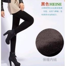 Wysoka elastyczna talia zima Plus Velvet zagęścić damskie ciepłe spodnie ciepłe Super elastyczne Faux aksamitne zimowe grube leg