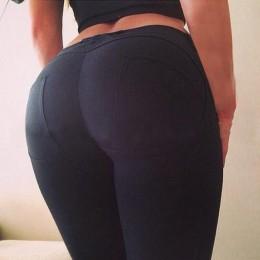 Seksowne legginsy damskie kobiece młodzieżowe push up z przeszyciami obcisłe wygodne elastyczne modne