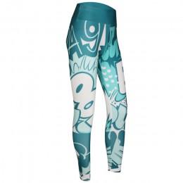 CHRLEISURE kobiety druk cyfrowy legginsy treningowe legginsy wysoka talia leginsy push-up Mujer fitness legginsy damskie spodnie