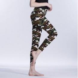 VISNXGI nowy mody 2019 kamuflaż drukowanie elastyczność legginsy kamuflaż Fitness Pant leginsy na co dzień mleka Legging dla kob