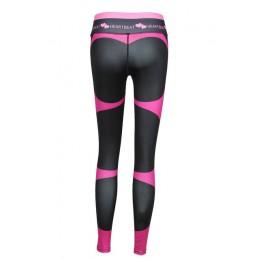 SVOKOR wysoka talia Fitness Legging kobiet bicie serca druku mody Push Up Sexy spodnie do kostek elastyczność legginsy kobiety