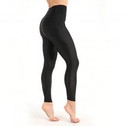 Damskie legginsy treningowe na co dzień, błyszczące, błyszczące, Legging kobiet Fiteness legginsy Plus rozmiar M-XXXL czarny sta