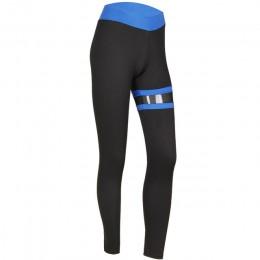 SVOKOR Push Up legginsy kobiety Gothic odzież Fitness Workout Mesh wysokiej talii spodnie kobiet oddychające Patchwork odzież sp