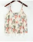 Tank Top kobiety szyfonowe bluzki 2019 nowy lato koszulka bez rękawów kwiatowy kwiat Cami luźne kobiet wierzchnia kamizelka