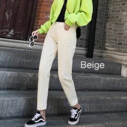 100% bawełna biały dżinsy dla kobiet wysokiej talii Harem mama dżinsy wiosna 2019 nowy plus rozmiar czarny kobiety dżinsy denim