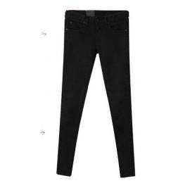 Jeansy damskie na wiosnę 2019 czarny Jeansy ze streczem nowych kobiet koreański stretch dopasowane dżinsy spodnie stóp