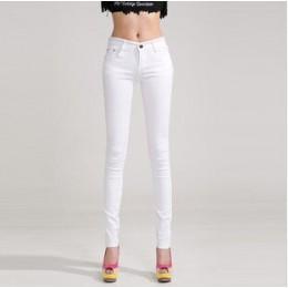 HEE GRAND damskie spodnie w 2019 dżinsy rurki damskie spodnie w połowie talii pełnej długości na zamek błyskawiczny Stretch Skin
