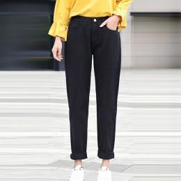 Nowych kobiet 2019 moda markowe dżinsy czarny biały niebieski harem spodnie myte spodnie jeansowe kobiet wiosna lato luźne dżins