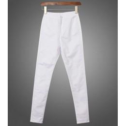 CatonATOZ 1888 nowych kobiet wysokiej talii dżinsy ołówek Stretch Denim spodnie damskie Slim spodnie skinny fit Calca dżinsy