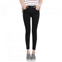 2019 wiosna jesień kobiety kostki kostki czarne dżinsy studenci Stretch Skinny szczupła ołówek kobiece spodnie jeansowe damskie