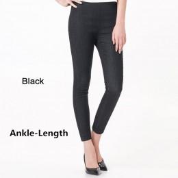 Dżinsy kobieta jesień lato wysoka talia Plus rozmiar odcinek pełnej długości Skinny Slim spodnie jeansowe dla kobiet 4XL 5XL 6XL