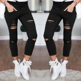 S-4XL nowe bawełniane spodnie na co dzień ołówek spodnie dzikie europejskie i amerykańskie popularne dżinsy damskie legginsy otw
