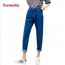 Dunayskiy spodnie jeansowe damskie modny niebieski wysoka talia luźne spodnie jeansowe kobiece spodnie Harem spodnie boyfriend j