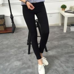 BIVIGAOS podstawowe Skinny damskie dżinsy kostki ołówkowe spodnie Slim elastyczne spodnie jeansowe Jean legginsy kobiece dżinsy