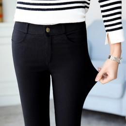 Kobiety Plus rozmiar spodnie z wysokim stanem spodnie obcisłe spodnie elastyczne ołówek spodnie wysokiej talii spodnie