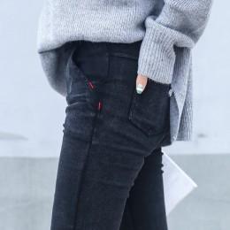 Skinny Jeans kobieta 2019 nowa wiosna mody chłopak myte elastyczne spodnie dżinsowe ołówek Slim spodnie capri imitacja Jean Femm