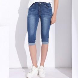 Tom Hagen 2019 lato Skinny Jeans Woman spodnie o wysokiej talii dżinsy kobiet Plus Size kobiet Denim kobiet Stretch kolano długo