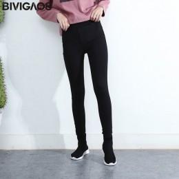 BIVIGAOS wiosna jesień kobiety proste podstawowe dżinsy elastyczne spodnie jeansowe ołówek Jean legginsy spodnie Jeggings dla ko