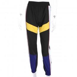 Weekeep kobiety wysoka talia Patchwork spodnie czarny ołówek spodnie Streetwear Cargo spodnie luźne Jogger spodnie kobiet 2019 s