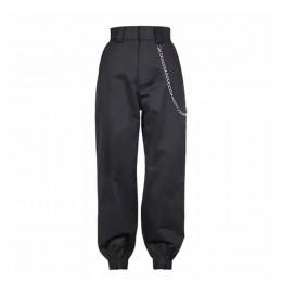 Wiosna 2019 moda kobieta spodnie kamuflażowe kobiet cargo spodnie wysokiej talii luźne spodnie biegaczy kobiety kamuflaż spodnie