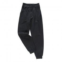 Modne luźne spodnie damskie z wysokim stanem zwężane ściągacze na kostkach z kieszeniami cargo kolor czarny khaki beżowy