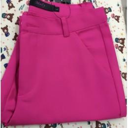 2018 nowych kobiet dorywczo OL biuro spodnie damskie obcisłe dziewcząt śliczne 12 kolor Slim spodnie rozciągliwe moda cukierki d