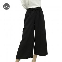 Lato nowy w paski w stylu czarny luźne wysokiej talii upraw spodnie na co dzień kobiet jeden rozmiar szyfonowa szerokie nogawki