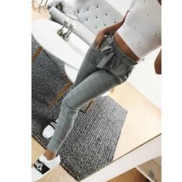 Nowy 2019 moda wiosna w stylu Vintage szary siatka casual spodnie damskie spodnie spodnie kobiet streetwear capris spodnie na la