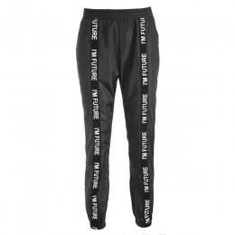 HOUZHOU spodnie Harem spodnie kobiety pełna długość luźne Jogger Mujer sportowe elastyczny pas czarny na co dzień walki z Street