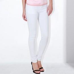 GAREMAY kobiety cukierki spodnie spodnie damskie obcisłe 2019 wiosna jesień Khaki spodnie rozciągliwe dla kobiet Slim panie Jean
